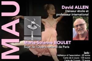 Stage de danse avec David Allen et Marie Solenne Boulet du 19 au 21 octobre 2019