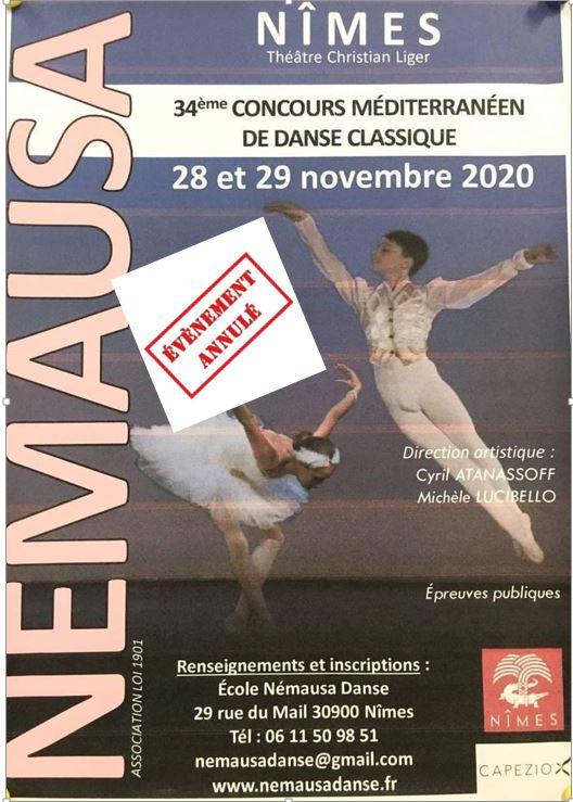 34 ème concours méditerranéen de danse classique à NÎMES